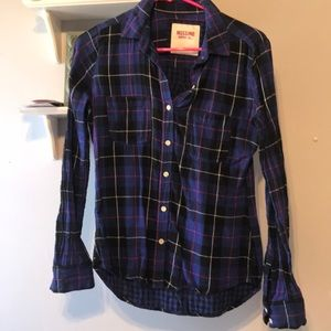 Long sleeve button down flannel
